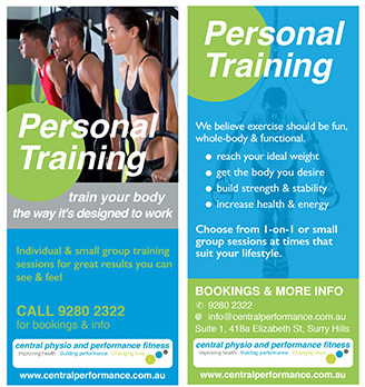 Personal Training at Central Performance in Surry Hills