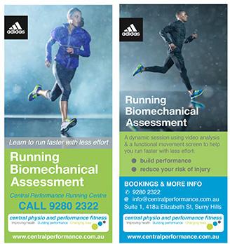 Running biomechanical assessment at Central Performance Running Centre