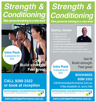 Strength & conditioning programs at Central Performance