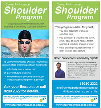 Shoulder injury management at Central Physio & Performance Fitness