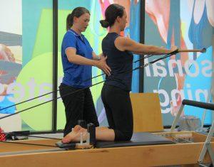 Clinical Pilates reformer equipment