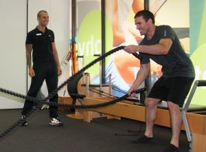 Personal training at Central Performance.