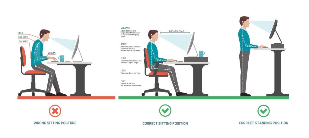 How to set up your home desk ergonomics.