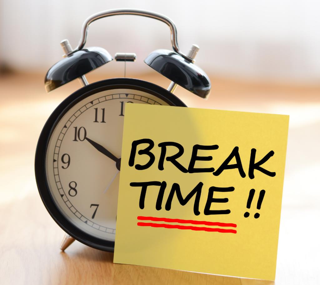Take a break during desk work